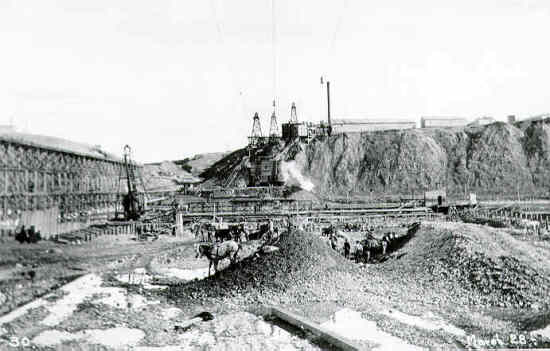Construction of the Bassano Dam